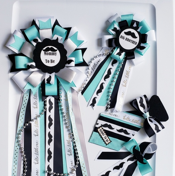 othe Other - Little man baby shower corsage/mom and dad set
